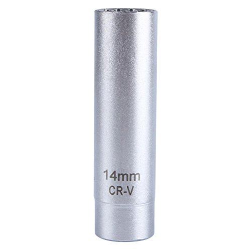 14mm Presa per candela a parete sottile, Keenso ad alta visibilità 3/8'Strumento di rimozione magnetica per presa polacca per candela A6032 Azionamento 12 punt