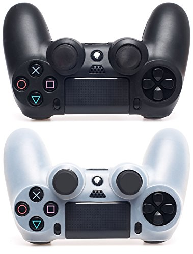 Schmutz Cup Griff (MyGadget 2X Silikon Schutzhülle für PS4 Dualshock Controller - Schutz & guter Grip - Skin Zubehör für Sony Playstation 4 Dual Shock Schwarz & Transparent)