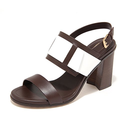 8014L sandali donna TOD'S t90 selleria fascia scarpe shoes women Marrone/Bianco