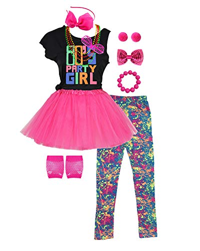 Party Girl Hot Pink Perücke - 80er Jahre Party Girls Kostüm Outfit