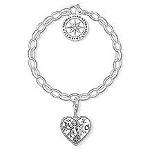 Thomas Sabo Femmes-Charm-Bracelet cœur Charm Club Argent Sterling 925 SET0554-643-14-L17v