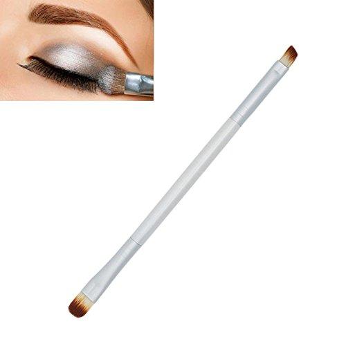 Angelof Maquillage Cils Fard à PaupièRes Double-Fin Pinceau Applicateur Maquillage CosméTiques Outil Pinceau (Silver)
