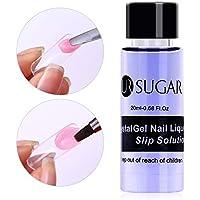 CoulorButtons 1 Botella 20ml UR SUGAR Gel Polivinílico UV Soak Off Nail Liquid Slip Solution Gel Creador Acrílico Extendido