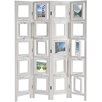 MYEUSSN Raumteiler Paravent Weiß Elegant DIY Paravents