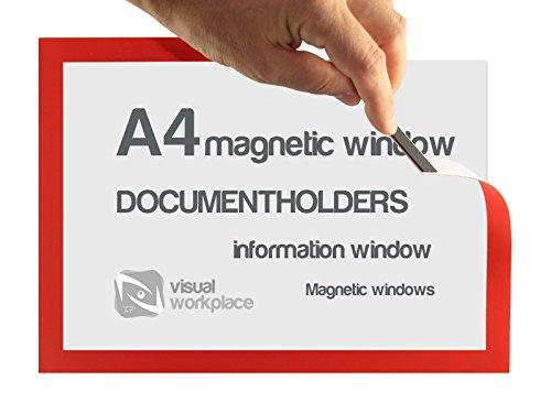 Magnético ventana soporte de documentos, A4, 5unidades), color naranja