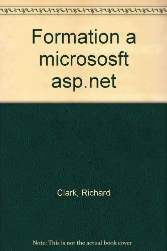 Formation à ASP .NET
