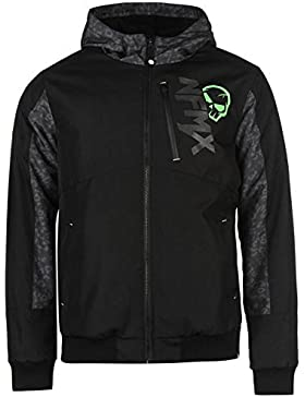 No Fear Jacquard Bomber chaqueta para hombre color negro chaquetas abrigos Outerwear, negro, small