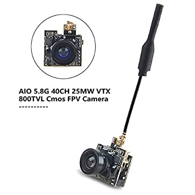 FPV Camear Micro AIO Camear 5.8G 40CH 800TVL Video Transmitter with Antenna for Indoor FPV Quadcopter Drone