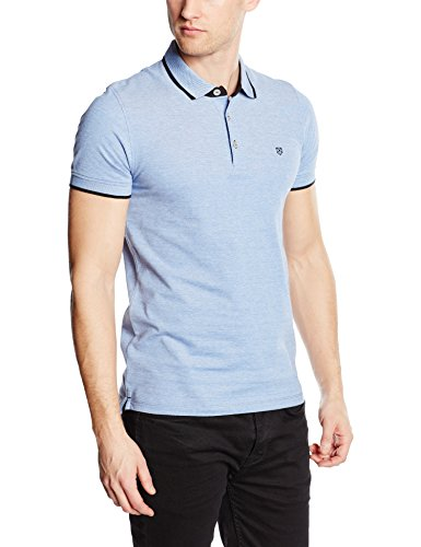 JACK & JONES Jack and Jones Herren Paulos Poloshirt, Blau (Bright Cobalt), XL(UK)