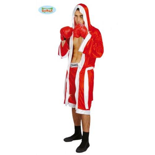 rotes Boxer Kostüm für Herren in Gr. M/L, Größe:L