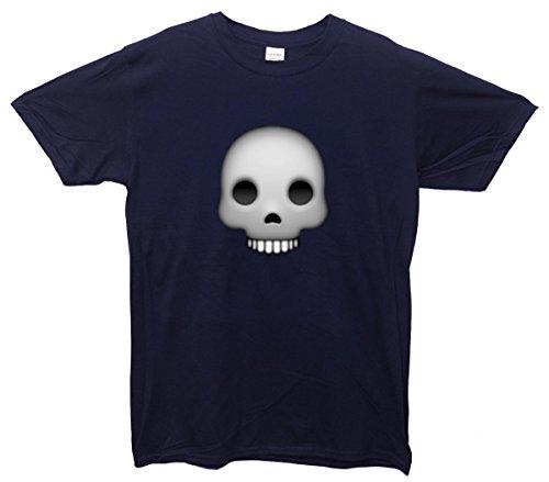 Skull Emoji T-Shirt Navy