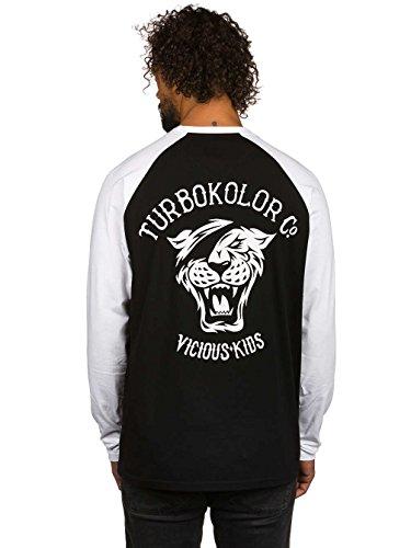 Herren Langarmshirt Turbokolor OG Tiger T-Shirt Black/White