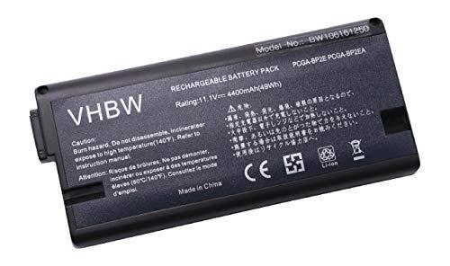 vhbw Batterie LI-ION 4400mAh 11.1V Noir Compatible pour Sony VAIO VGN-A Série VGN-A270B etc. remplace PCGA-BP2E, PCGA-BP2EA