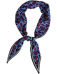 5da0b3ec6b0 Les Femmes imprimé léopard Cou écharpe Bandana Mouchoir Foulards Diamant  Petit Bandeau Foulard
