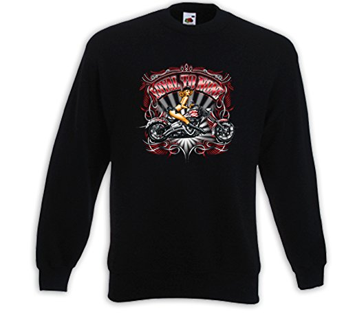 Biker Pullover Loyal To None Pink Motorcycle Bike Kustom V-Twin Pinup Schwarz
