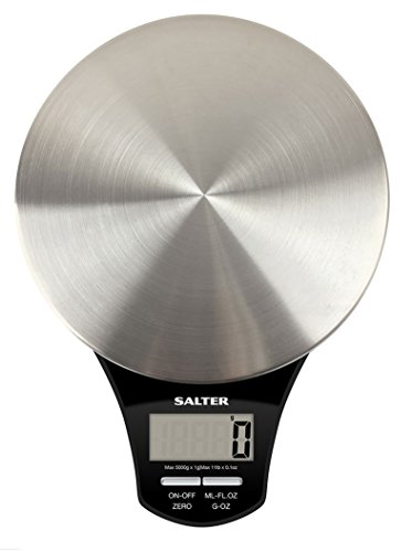 Salter 1035 SSBKDR Elektronische Küchenwaage mit Edelstahl-Teller 24 x 20 x 27,5 cm edelstahl / schwarz - 2