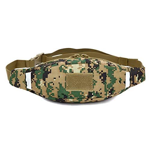 Ozq-box Bum Taktische Tasche Military Fan mit Water Bottle Holder Belt Waist Bag für Holidays Camping Klettern Wandern, E, 34×4×12cm (Box-fans 10 Zoll)