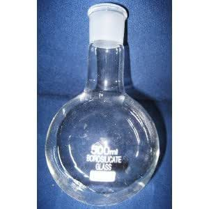 Le ballon à fond rond de 500 ml verre borosilicate nS29/32