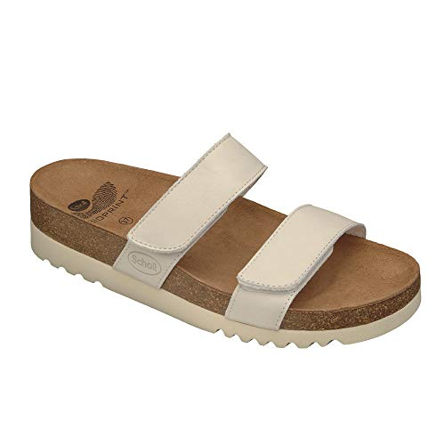 Scholl - lusaka black, scarpe con tacco da donna, bianco (weiß), 40