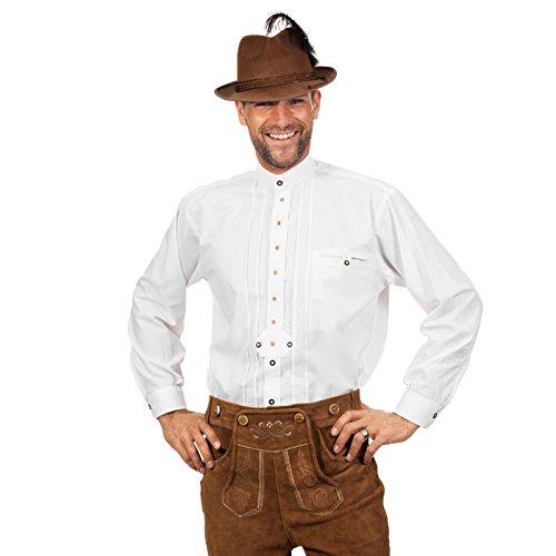 NEU Herren-Trachten-Hemd, weiß, Gr. 50-52