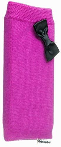 Trendz TZSKBKBW Universal Socke für Apple iPhone/iPod und MP3 pink mit Schwarz-Bogen