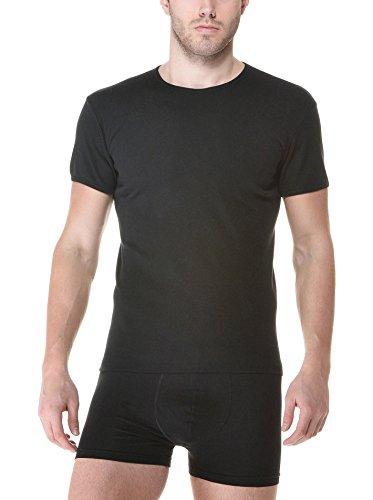 Ever set 2 pezzi Maglietta Girocollo cotone 725, intimo uomo, underwear Nero