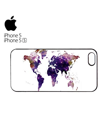 World Map Galaxy Space Mobile Phone Case Back Cover Hülle Weiß Schwarz for iPhone 6 Plus White Weiß