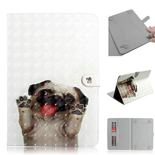 MYTHOLLOGY Universal Hülle für 10 Zoll Tablette, PU Leder 3D Hülle mit Standfunktion Schutzhülle für LG G Pad II 10.1 V940 /LG G Pad 3 10.1 (V755) - F12