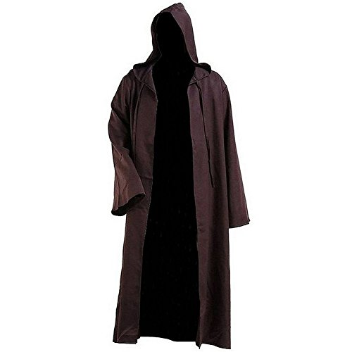Halloween Cosplay Anime Star Wars Jedi Knight Samurai Black Coffee 2 Farben L C (Star Wars Jedi Knight Kostüm)