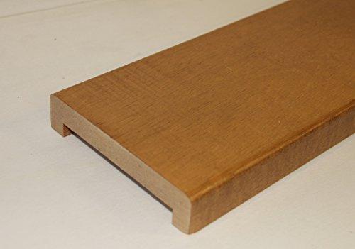 Hobby Legno - Coprimuretto Massello In Legno Tinto Rovere mm. 30X140X2500 Per Muro Da mm. 110 (Prezzo Per ml. 2, 50)