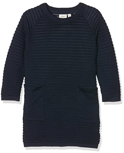 NAME IT Mädchen Kleid Nitwilda LS Knit Dress MZ Ger, Blau (Dress Blues), 92