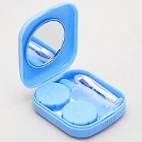 Reise mini Kontaktlinsenbehälter Kontaktlinsen Behälter Box Aufbewahrung Einweichen Spiegel Fällen + Pinzette