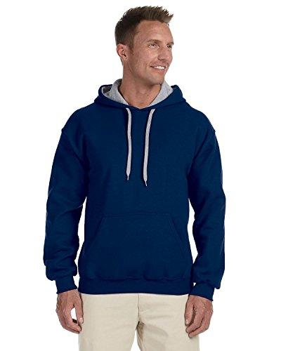 Gildan Sweatshirt für Herren mit Kapuze, G185c, Grau, G185C XXX-Large