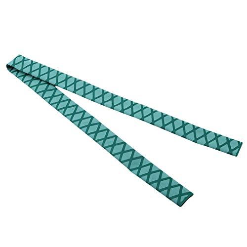 DeliV Non Slip Wrap Strukturierter Schrumpfschlauch Grip Angelrute Schläger Sleeving Griff Elastic Stretch, Grün, 1580