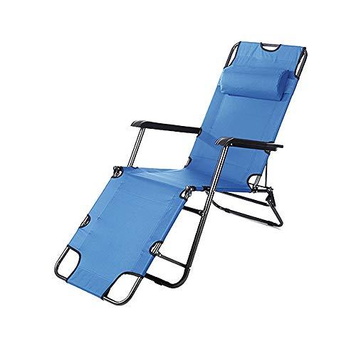 XF Klappstuhl Tragbarer Erwachsener Rückenhocker Home Einzelbett Mittag Büro Outdoor Camping Stuhl, Cyan Outdoor-Reiseausrüstung