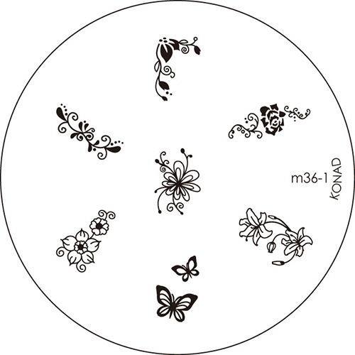 Chapeau en ligne Konad Pochoirs M36–1