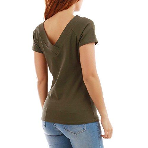 La Modeuse - T-shirt femmeà manches courtes Kaki