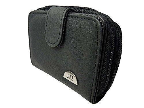 Quenchy London Q033M Ladies leather Purse, Porte-monnaie Femme, noir (Noir) - Q330M Ladies Leather Purse