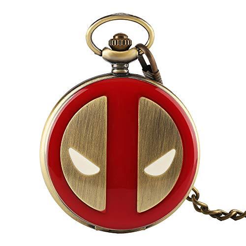 Rot Deadpool Taschenuhr, Superheld Thema Taschenuhr, Geschenk für Herren