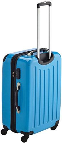HAUPTSTADTKOFFER - Alex - 2er Koffer-Set Hartschale glänzend, 65 cm, 74 Liter, Graphit-Schwarz Cyanblau