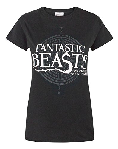 Fantastic Beasts and where to find them -  T-shirt - Maniche corte  - Donna Black Medium