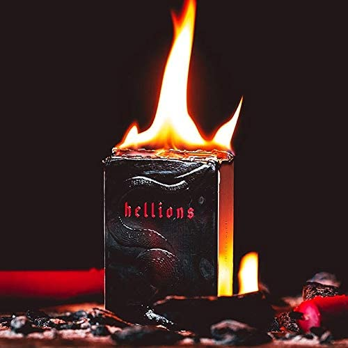 SOLOMAGIA Red Tours Hellions Playing Cards - Black Tuck - Tours Red et Magie Magiques B07JH27425 137080