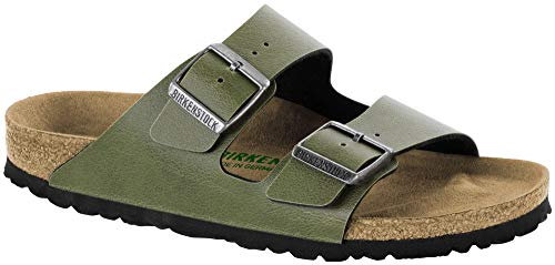 BIRKENSTOCK Arizona Pull Up Olive Vegan Birko-Flor -