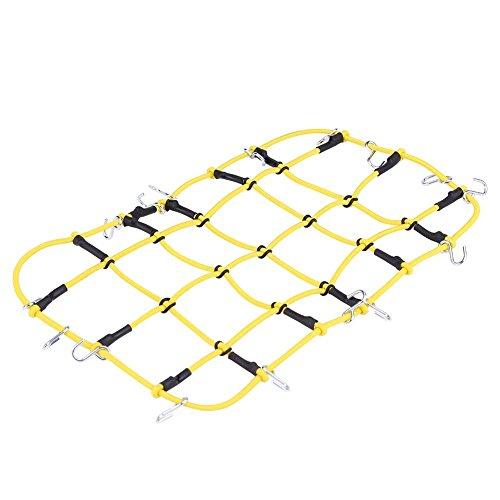 Preisvergleich Produktbild Dilwe RC Auto Gepäcknetz,  Gelbes Nylon Netz mit Haken für kletternde Autos Traxxas TRX 4 D90 SCX10 90046 KM2