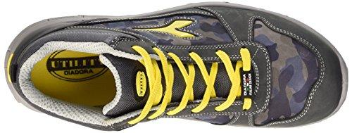 Diadora Run High S3, Scarpe da Lavoro Unisex – Adulto Grigio (Castello/Blu Lunare)