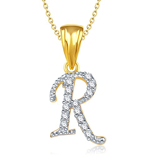 Valentine Gifts Amaal 'R' Alphabet Pendant For Women And Men With Chain PS0133
