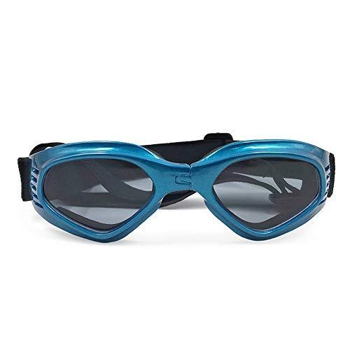 FZQ Haustier Brillen Foldable AC Plastic Nylon Ribbon Creative Dog Cat Brillen Ski Sonnenbrillen Creative Accessoires Multi-Color Optional,Blue