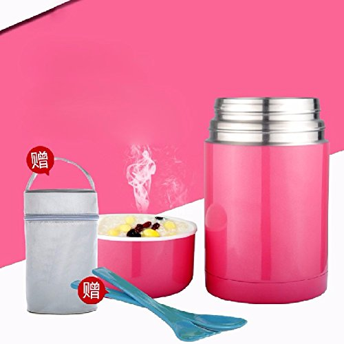 KHSKX Pot de Compote Tasses, boîtes à Lunch isothermes, boîtes à Lunch Chaud 750ml en Acier Inoxydable, avec Riz Bouillie Tong Tang Portable,A
