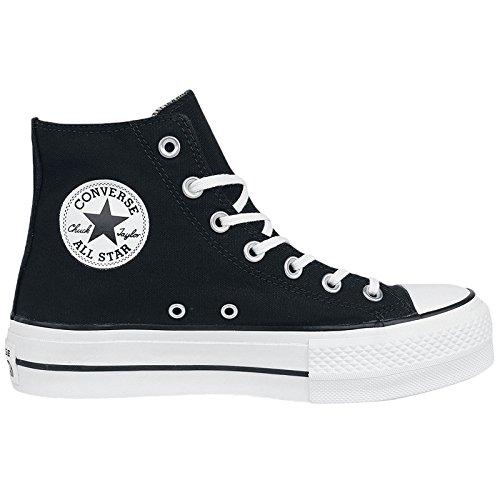 quality design 90f5c 607d3 Converse Chuck Taylor Ctas Lift Hi Scarpe Da Ginnastica Alte Donna, Nero  (Black White White), 38 EU