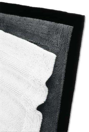 RHOMTUFT Baumwoll-Badteppich 70x130cm weiss